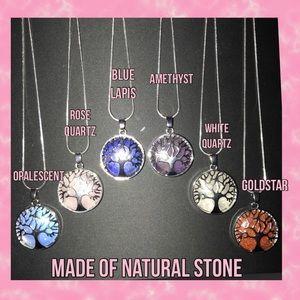 Tree of Life Necklace Genuine Stone